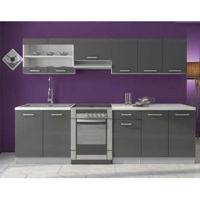 meuble cuisine complete 2m60 - achat / vente meuble cuisine ... - Meuble Cuisine Violet