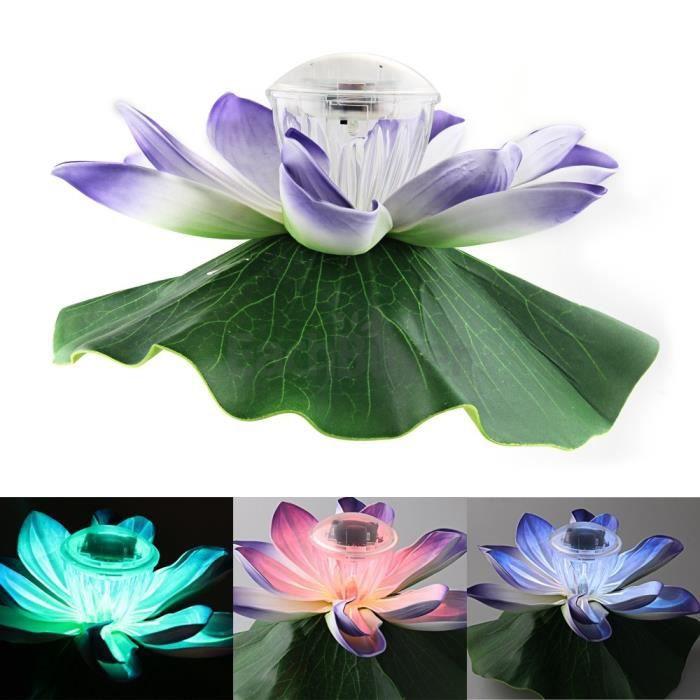led lampe solaire rgb etanche fleur lotus piscine achat. Black Bedroom Furniture Sets. Home Design Ideas