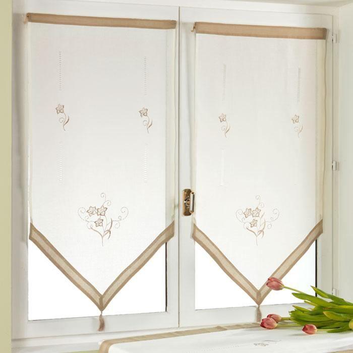 paire de rideaux tamine brod e 60 x 120 cm ivoire achat vente rideau voilage cdiscount. Black Bedroom Furniture Sets. Home Design Ideas