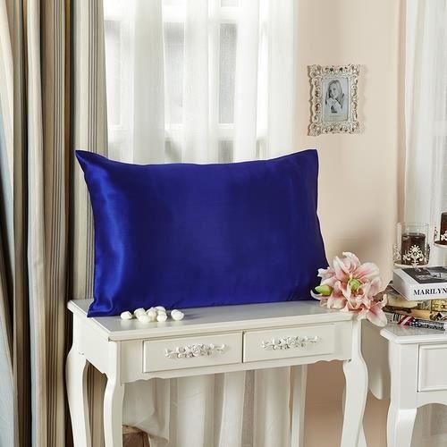 lilysilk taie d 39 oreiller 100 soie sans volant soie 19 momme bleu 50 x 75cm achat vente taie. Black Bedroom Furniture Sets. Home Design Ideas