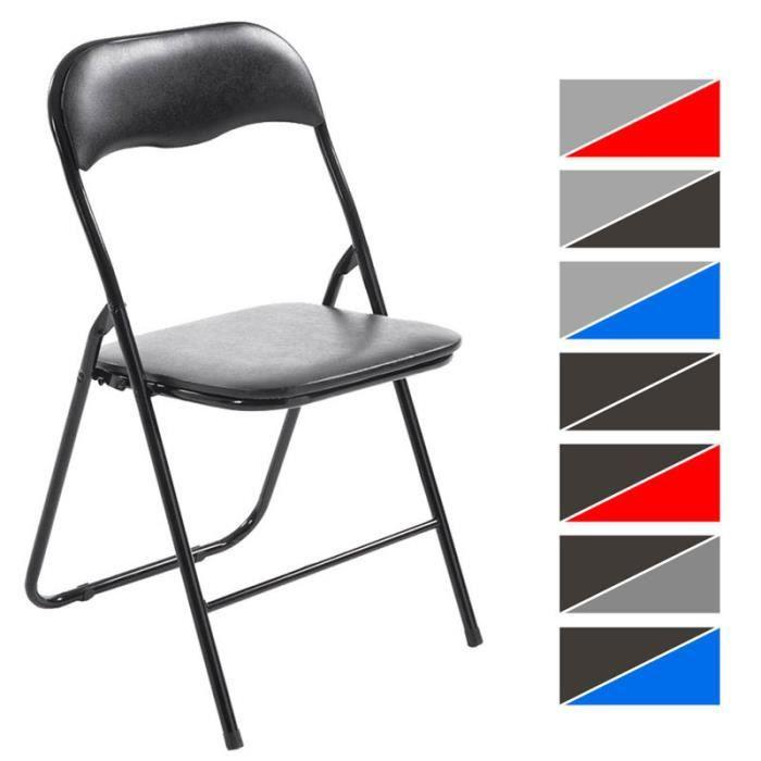Clp chaise de cuisine pliable felix pi tement en m tal si ge en plastique - Chaise de couleur en plastique ...