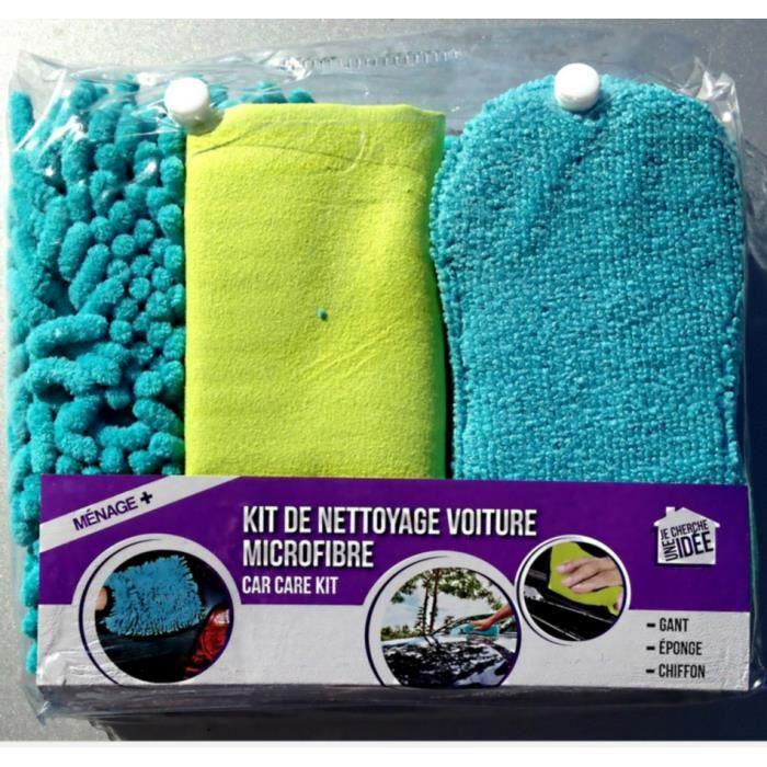 kit de nettoyage voiture microfibre achat vente ponge vaisselle kit de nettoyage voiture mi. Black Bedroom Furniture Sets. Home Design Ideas