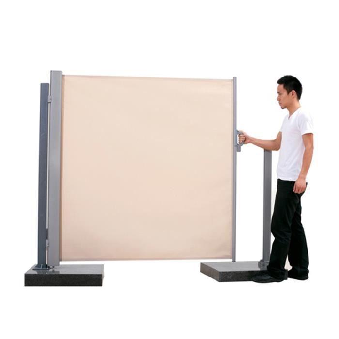 paravent r tractable beige achat vente parasol. Black Bedroom Furniture Sets. Home Design Ideas