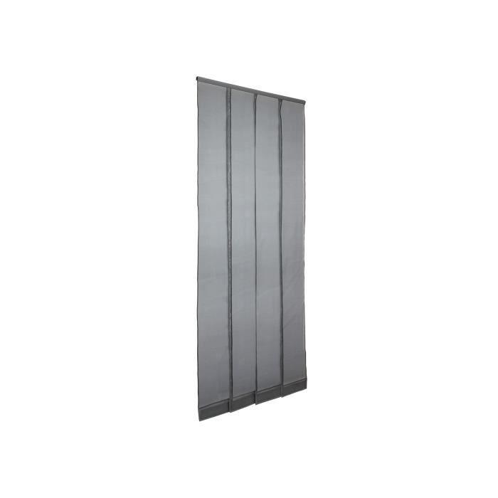 moustiquaire rideau de porte mousticlaire 174 gris l1300 x h2300mm recoupable achat