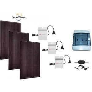 kit solaire 750w mono black autoconsommation po achat vente kit photovoltaique cdiscount. Black Bedroom Furniture Sets. Home Design Ideas