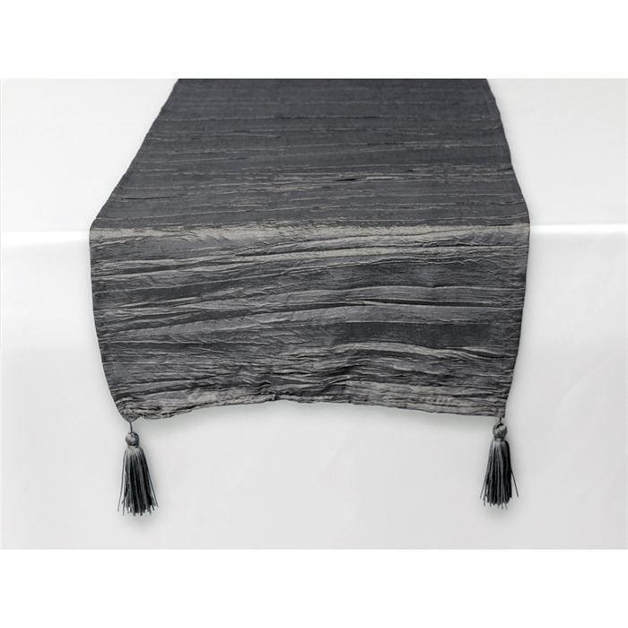 chemin de table rectangle 40x140 cm bambou gris achat vente chemin et set de table cdiscount. Black Bedroom Furniture Sets. Home Design Ideas