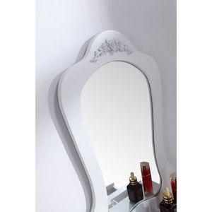 Coiffeuse achat vente coiffeuse pas cher cdiscount for Coiffeuse blanche avec miroir