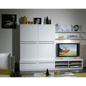 meuble salon blanc laque achat vente meuble salon blanc laque pas cher cdiscount. Black Bedroom Furniture Sets. Home Design Ideas