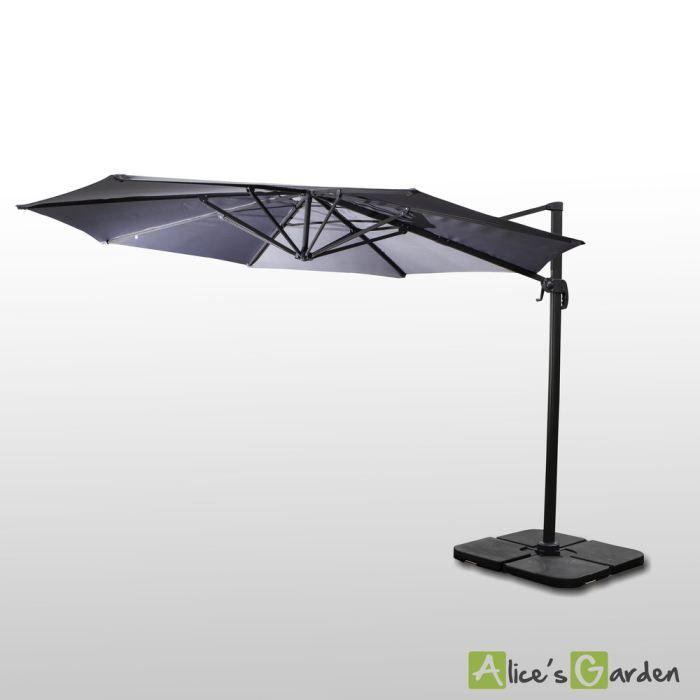 parasol ombrage parasol d port rond 400cm haut de gamme excen. Black Bedroom Furniture Sets. Home Design Ideas
