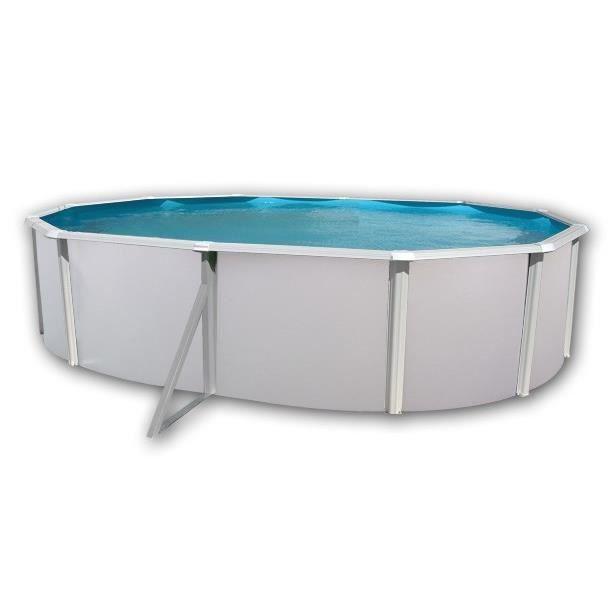 Mallorca piscine en acier ovale 550x366x120 achat for Soldes piscine tubulaire rectangulaire