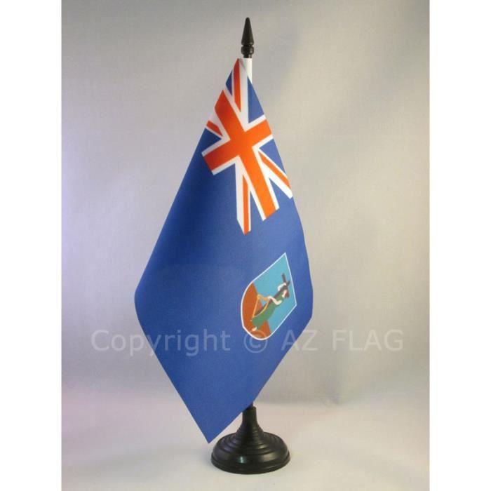drapeau de table montserrat 21x14cm anglais achat vente drapeau d coratif polyester. Black Bedroom Furniture Sets. Home Design Ideas