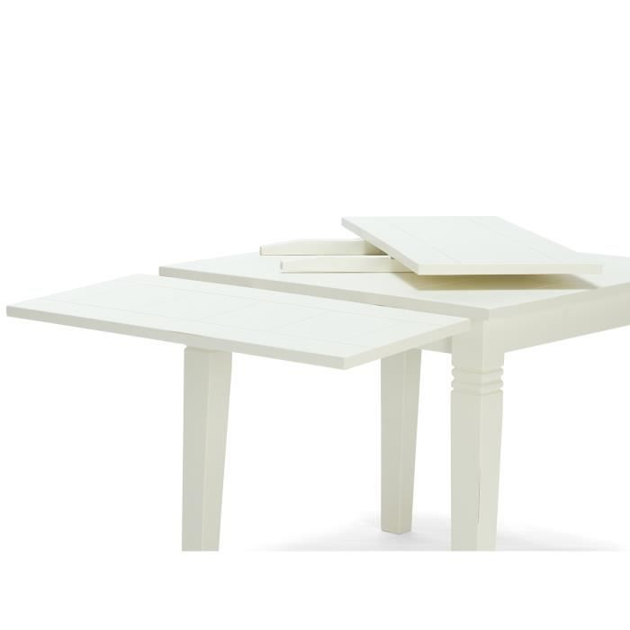 2 rallonges pour table manger catana en pin blanc for Table cuisine pin