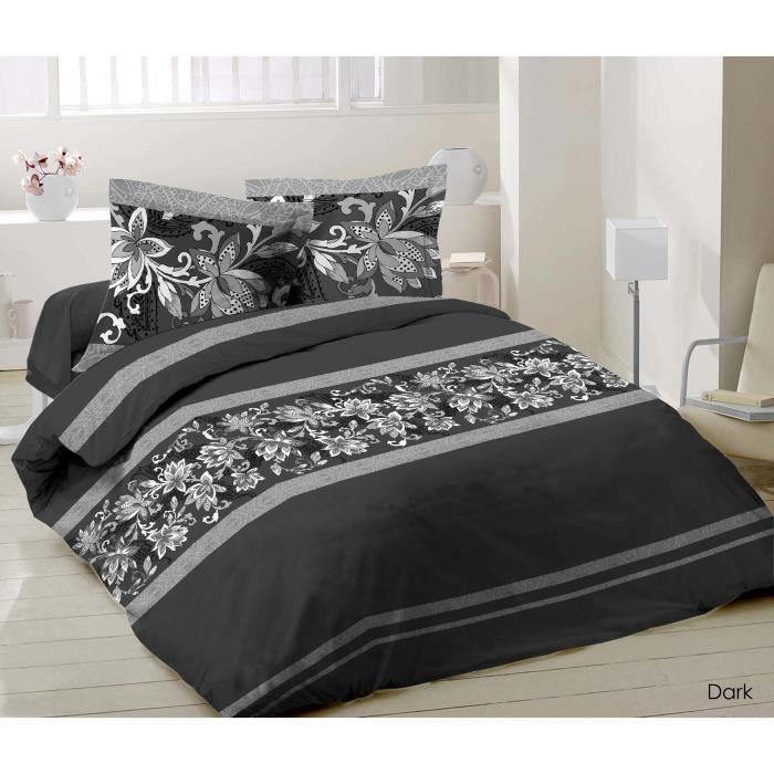 housse de couette 3 pieces dark achat vente parure de. Black Bedroom Furniture Sets. Home Design Ideas