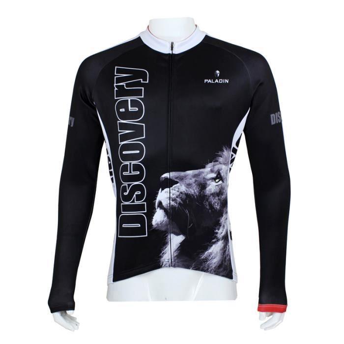 lion maillot de cyclisme manches longues collant bretelles homme noir achat vente maillot. Black Bedroom Furniture Sets. Home Design Ideas