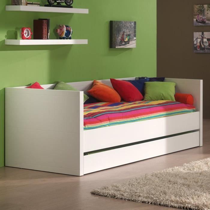 paris prix lit capitaine enfant lara blanc achat vente lit complet paris prix lit. Black Bedroom Furniture Sets. Home Design Ideas