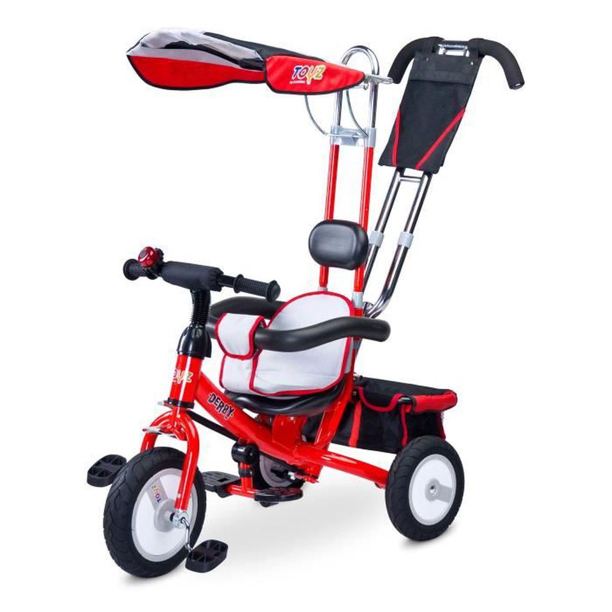 v lo 3 roues rouge tricycle enfant et b b porteur prix pas cher cdiscount. Black Bedroom Furniture Sets. Home Design Ideas