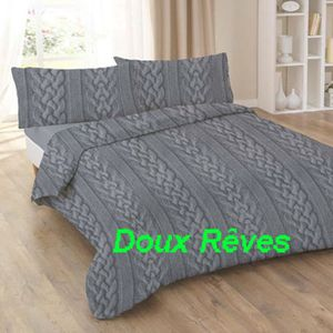 parure de lit drap housse drap plat 160 200 achat vente parure de lit drap housse drap plat. Black Bedroom Furniture Sets. Home Design Ideas