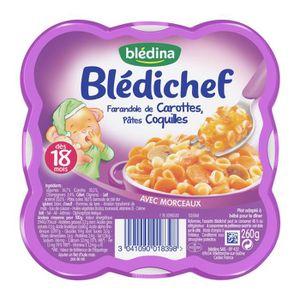 PLATS PRÉPARÉS VIANDE BLEDINA Blédichef Assiette Farandole Carottes Coqu