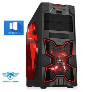 UNITÉ CENTRALE  Pc Gamer Red Victory Intel I3 6100 nVIDIA GTX960 2