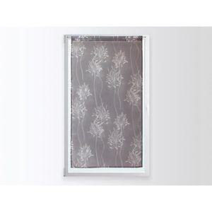 double rideau fleurs gris achat vente double rideau fleurs gris pas cher cdiscount. Black Bedroom Furniture Sets. Home Design Ideas