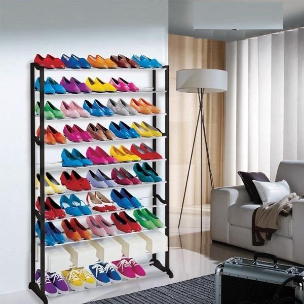 Range chaussures design 50 paires achat vente housse - Housse de rangement pour chaussures ...