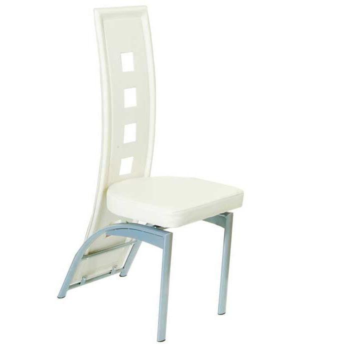 Chaise de s jour pu couleur blanche achat vente for Chaise de couleur