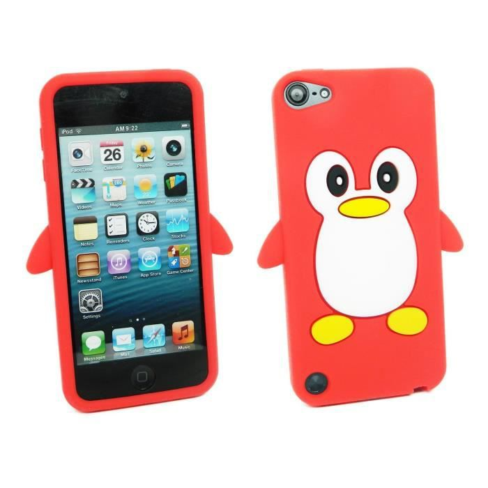 coque ipod touch 5 souple pingouin rouge animal achat. Black Bedroom Furniture Sets. Home Design Ideas