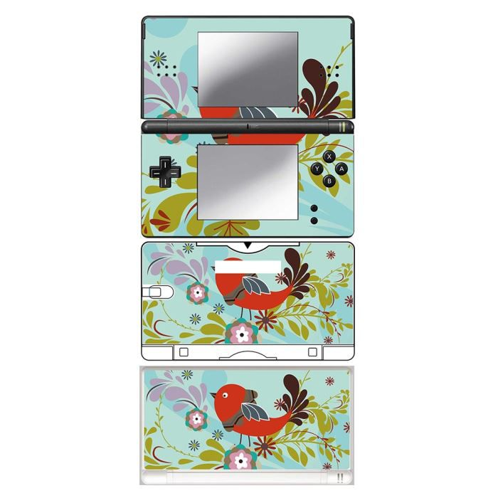 skin stickers pour nintendo ds lite sticker floral and bird achat vente protection ecran. Black Bedroom Furniture Sets. Home Design Ideas
