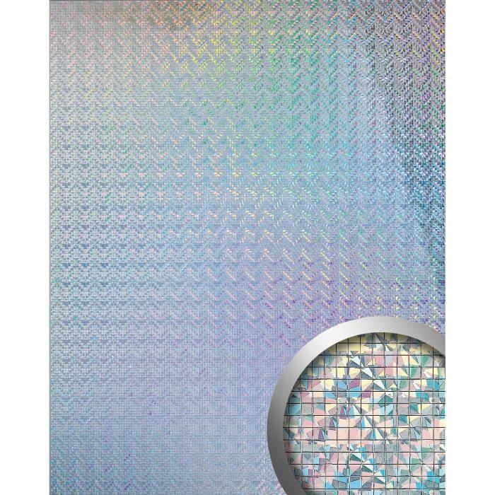 Design rev tement mural auto adh sif aimantin miroir for Papier peint adhesif mural