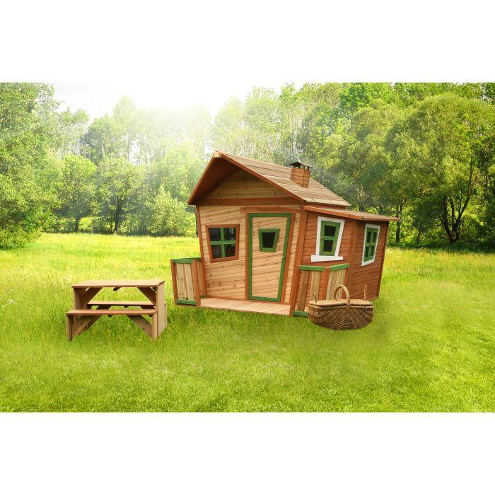 Axi maisonnette enfant cabane en bois lisa achat vente maisonnette ext rieure maison lisa - Cabane jardin feber strasbourg ...