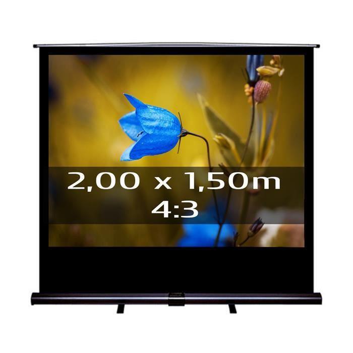 ecran de projection transportable 2 00 x 1 50m ecran de projection avis et prix pas cher. Black Bedroom Furniture Sets. Home Design Ideas