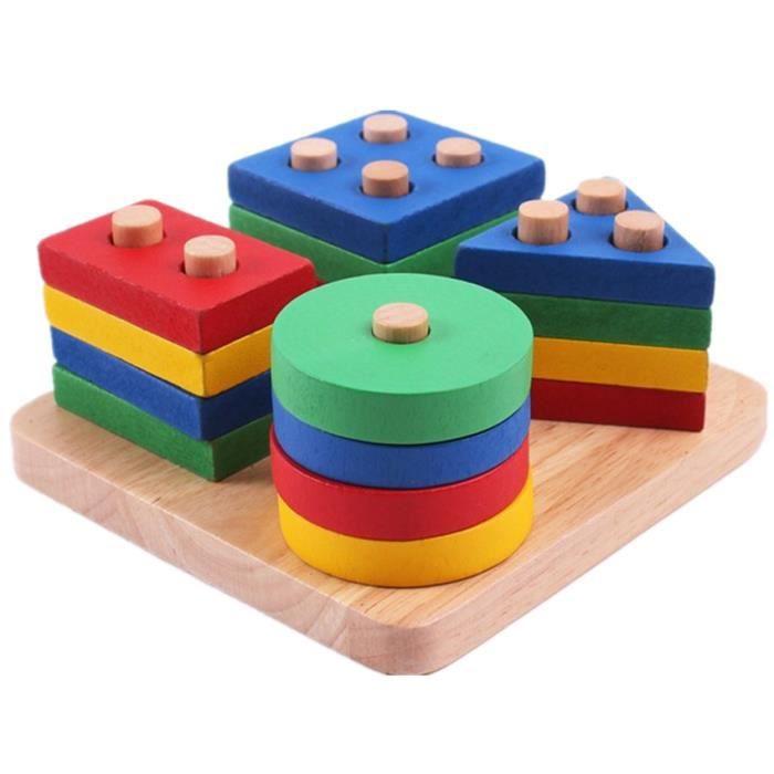 b b jouets ducatifs en bois g om trique tri conseil blocs montessori enfants jouets ducatifs. Black Bedroom Furniture Sets. Home Design Ideas