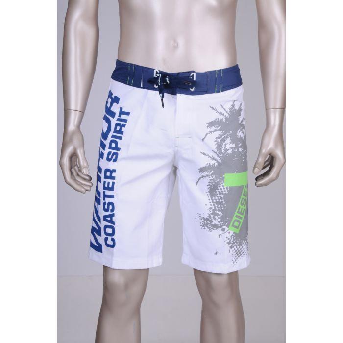 diesel maillot de bain homme blanc bleu achat vente maillot de bain cdiscount. Black Bedroom Furniture Sets. Home Design Ideas
