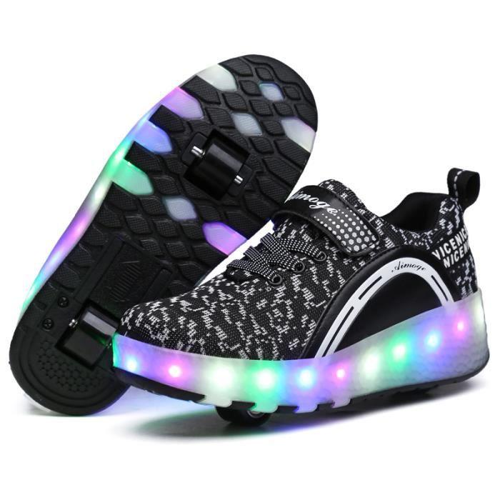 led heelys chaussures enfant roulettes avec roues. Black Bedroom Furniture Sets. Home Design Ideas