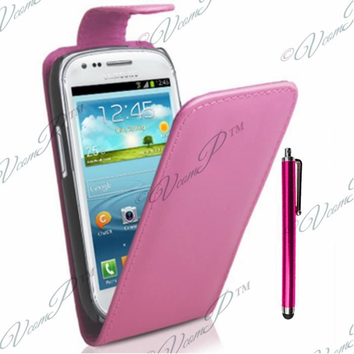 Etui simili cuir samsung wave y s5380 achat housse for Housse samsung wave 2