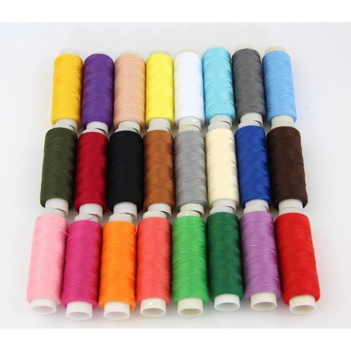24 bobines de 180 m tres fil de color couleurs achat vente fil a broder a coudre 24. Black Bedroom Furniture Sets. Home Design Ideas