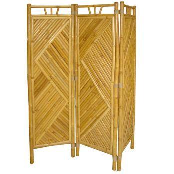 maison decoration accessoires paravent  pans bambou f auc