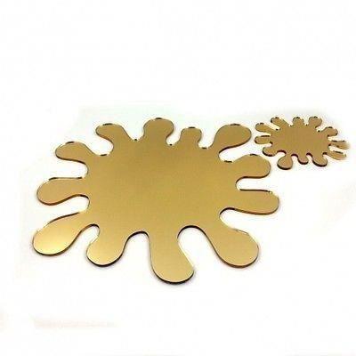6 or miroir claboussures napperons et sous verres achat for Miroir acrylique incassable