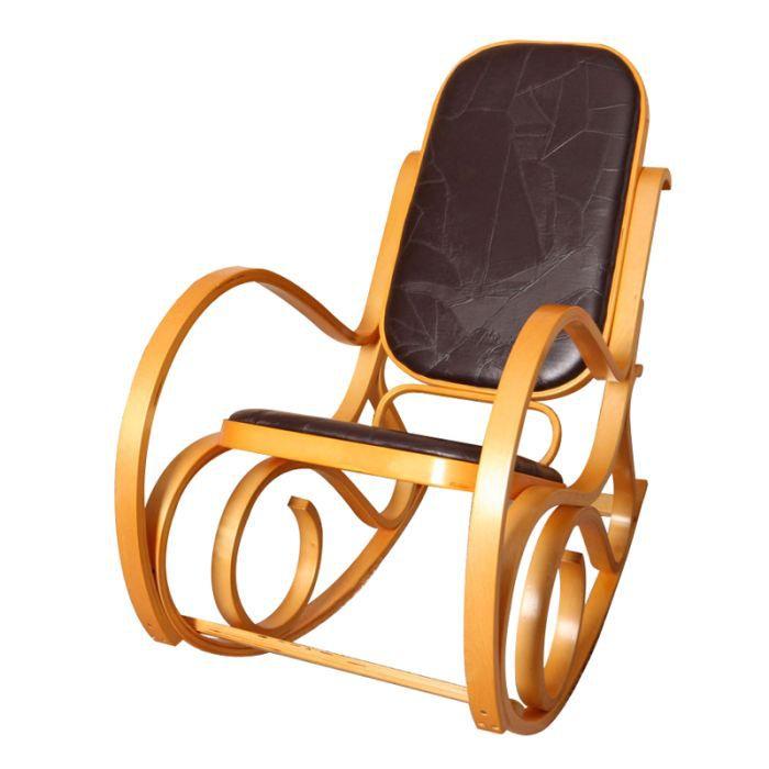 rocking chair alton en bois courb coloris ch ne achat vente fauteuil mati re de la. Black Bedroom Furniture Sets. Home Design Ideas