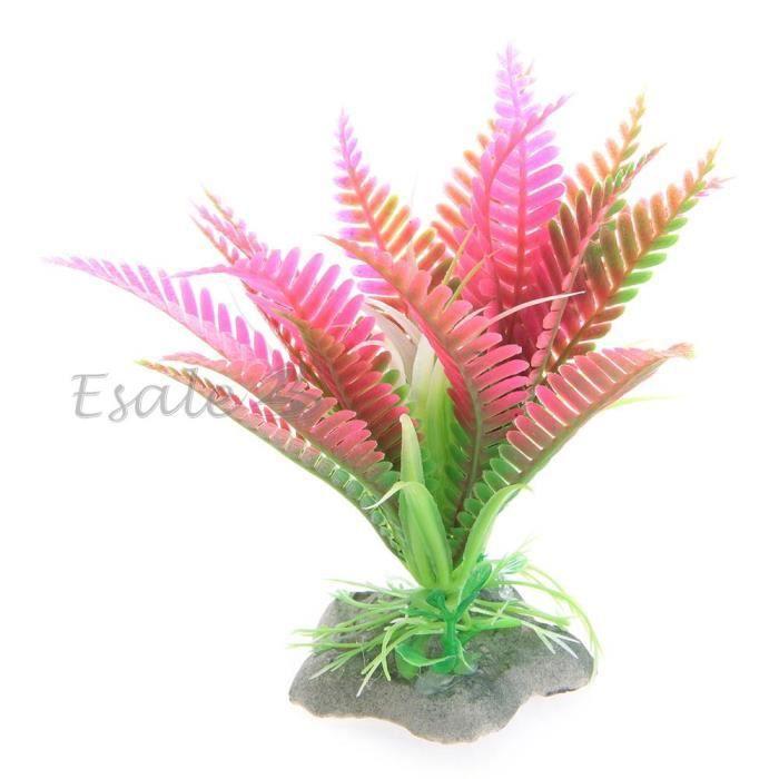 Plante artificielle herbe fleur aquatique plastique rose for Deco plante artificielle