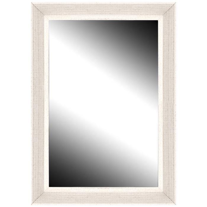 Brio miroir cottage blanc 50x70 cm achat vente miroir for Miroir 50 x 70 cm
