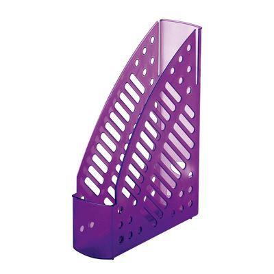 porte revues fluor lilas transparent achat vente porte courrier bac porte revues cdiscount. Black Bedroom Furniture Sets. Home Design Ideas