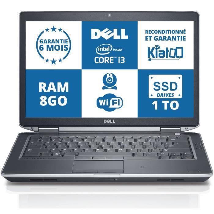 ordinateur portable dell latitude e5430 core i3 8go ram 1to disque dur ssd drives pc portable. Black Bedroom Furniture Sets. Home Design Ideas