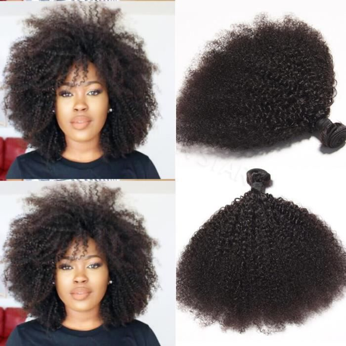2 tissage cheveux humains bresilien naturel afro kinky curly doux 100grams pieces achat. Black Bedroom Furniture Sets. Home Design Ideas