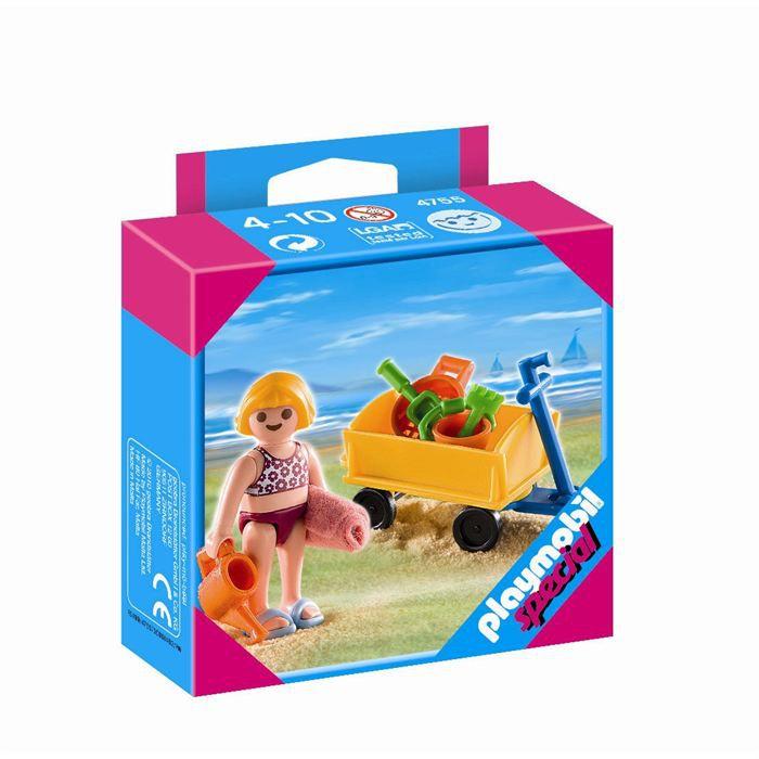 playmobil 4755 enfant avec jeux de plage achat vente univers miniature cdiscount. Black Bedroom Furniture Sets. Home Design Ideas