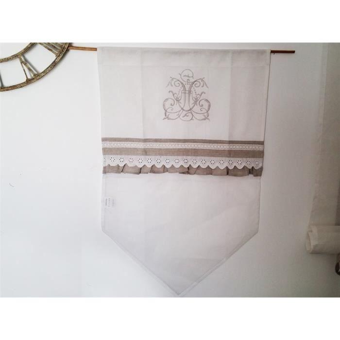 simla brise bise vitrage blanc dentelle bas achat vente brise bise cdiscount. Black Bedroom Furniture Sets. Home Design Ideas