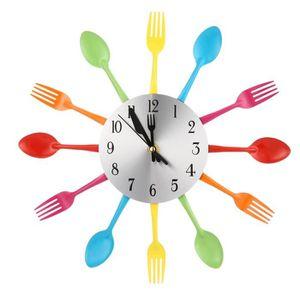 HORLOGE Multicolors Fourchette Cuillère Cuisine Couverts H