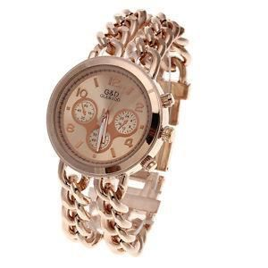 MONTRE Montre Quartz Bracelet Alliage Or Rose Cadran Rond