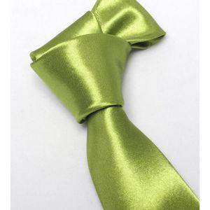 CRAVATE - NŒUD PAPILLON Cravate Vert Olive Fuchsia  Slim Homme Unie Satiné