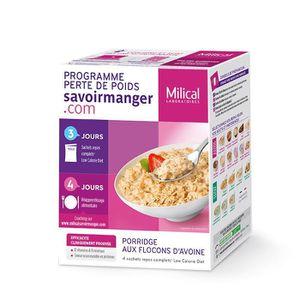 DESSERT MINCEUR Lcd porridge aux flocons d'avoine 4 sachets